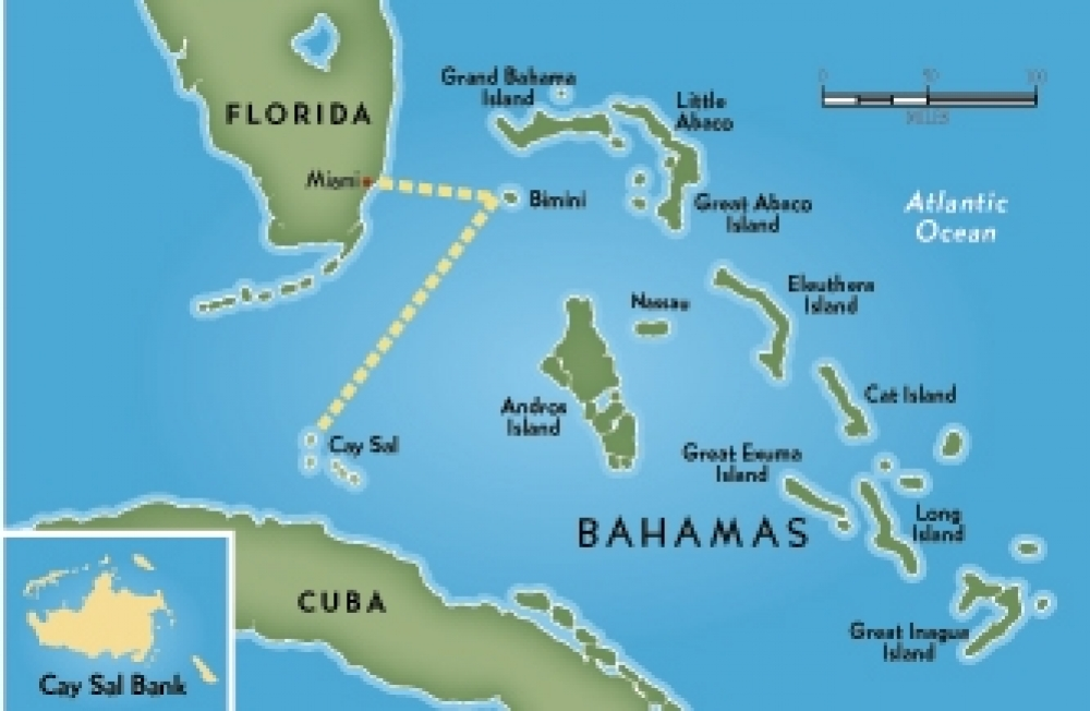 Map Of Us And Bahamas
